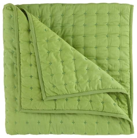 Organic Quilts And Coverlets voile quilt green contemporary quilts and quilt sets by the land of nod