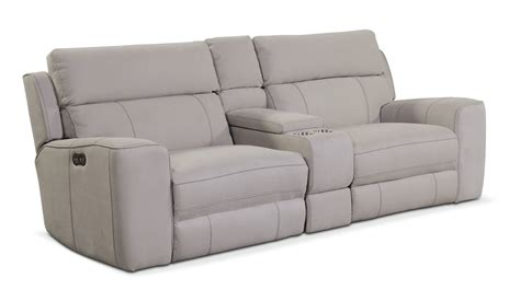 light grey reclining sofa newport 3 power reclining sofa with console light