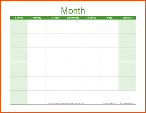 Word Calendar Sle Monthly Calendar Template Word