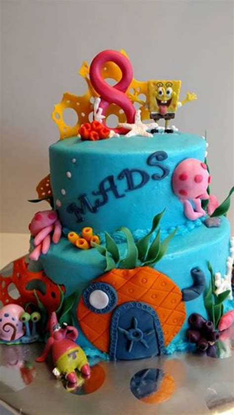 spongebob the sea cake cakecentral