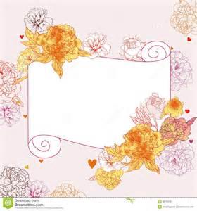 floral frame stock image image 38763141