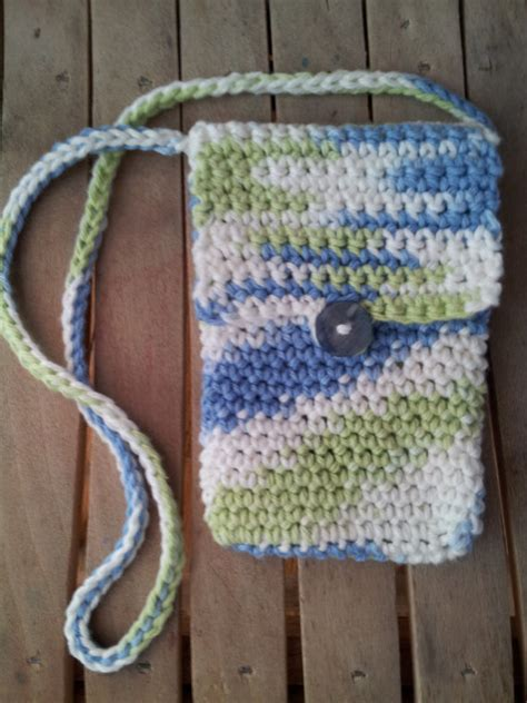 crochet pattern phone bag items similar to stylish crochet cell phone bag crochet