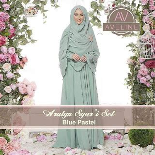 Set Gamis Micro Premium Pink Dusty S aralyn syar i set by aveline gamis set syar i collection
