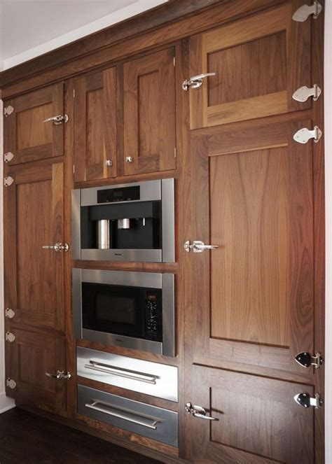 walnut cabinets ice box latches natural walnut cabinets kitchen cabinet
