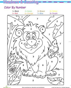 lion color by number coloring pages color by number lion in the jungle worksheet