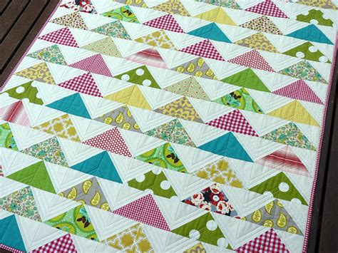 Flying Geese Quilting Pattern by Pepper Quilts Quilted Modern Flying Geese Quilt And Pattern