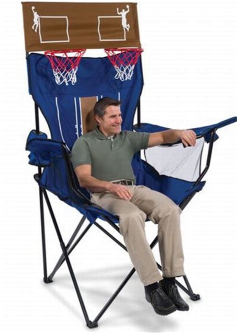 giant armchair brobdingnagian giant chair has a built in basketball