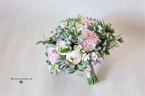 Wedding Bouquet With Succulents by Alternative Wedding Bouquet Keepsake Succulent Bouquet