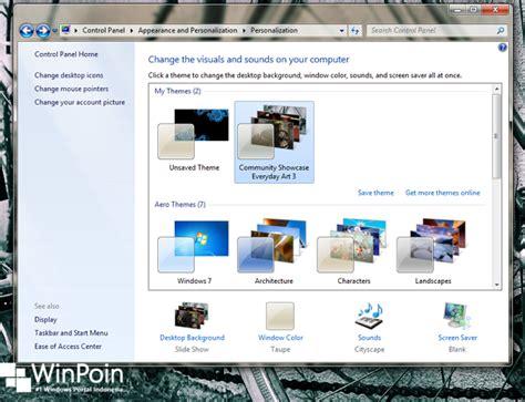tutorial instal tema windows 7 cara instal tema di windows 7 winpoin