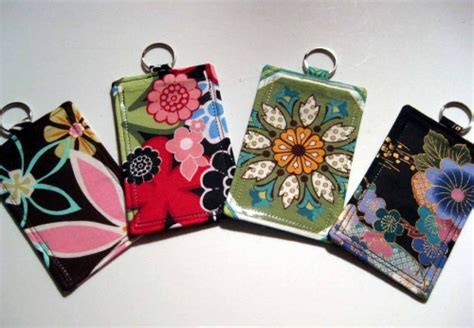 pattern for name tag holder fabric id badge holder sleeve vertical horizontal pouch