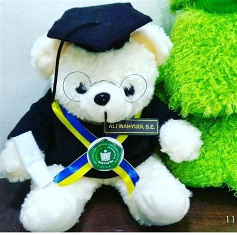 Teddy Kuning Hitam 8199m teddy boneka wisuda iisip yapis biak kado wisudaku