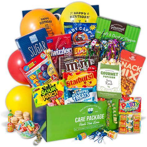 birthday care package  gourmetgiftbasketscom