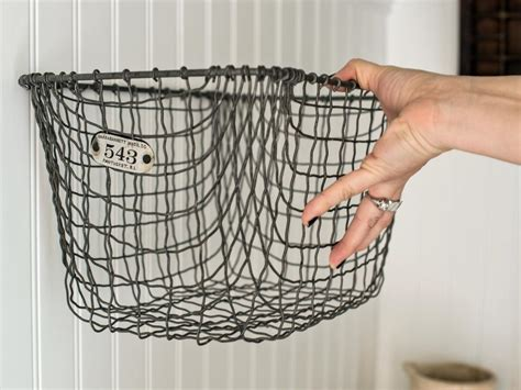 bathroom wall baskets easily boost bathroom storage with wall mounted baskets hgtv