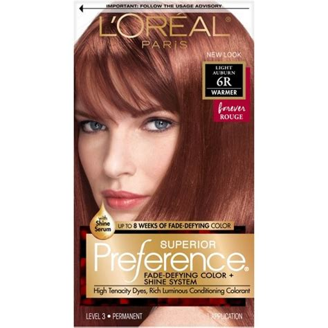 loreal auburn hair color l oreal 174 superior preference fade defying color