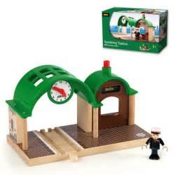 brio train station brio wooden railway speaking station at railway toys