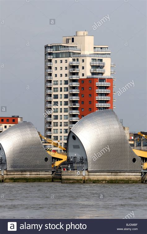 thames barrier woolwich thames flood barrier woolwich stock photo royalty free