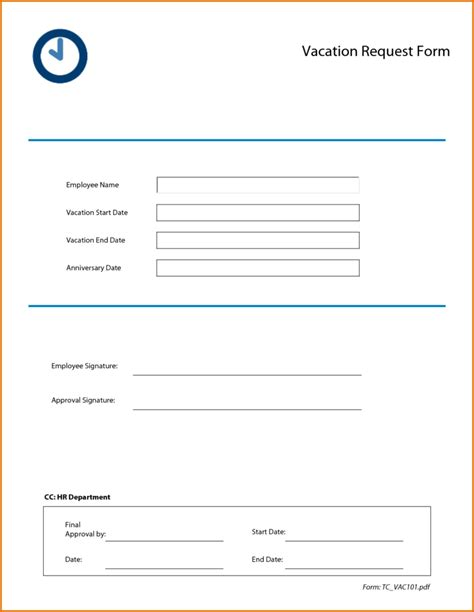 employee credit card request form template 5 employee vacation request form for free