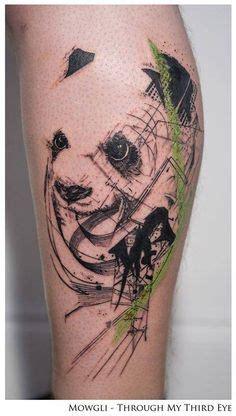 panda tattoo abstract mowgli artist panda tattoo cool tattoos pinterest