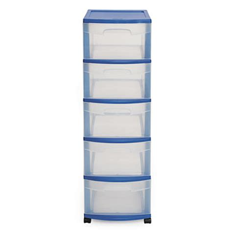 Sterilite 5 Drawer Storage Cart by Sterilite 174 Blue 5 Drawer Cart Big Lots