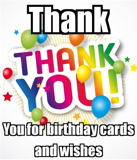 Thank You For Birthday Card Message Thank You For Birthday Cards And Wishes Keep Calm And