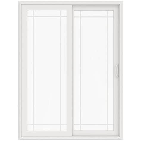 96 patio door jeld wen 72 in x 96 in v 4500 white prehung right sliding 9 lite vinyl patio door