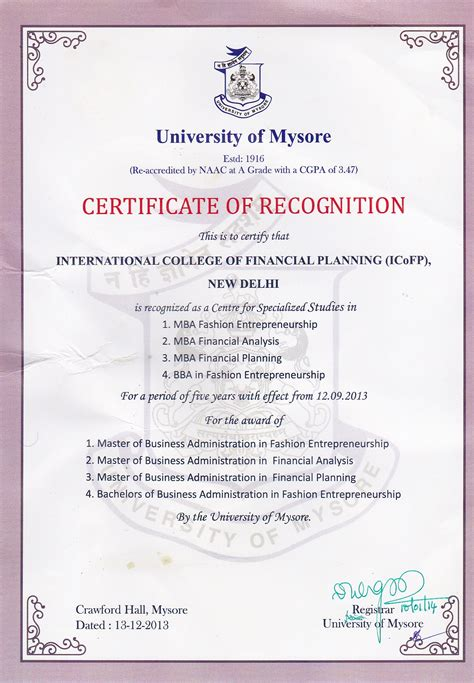 Mba Finance In Gujarat by Icofp Affiliation