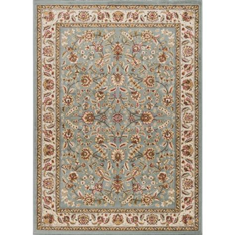 8 x 10 rugs lowes shop tayse laguna blue rectangular indoor area rug common 8 x 10 actual 7 5 ft w x 9 8333 ft