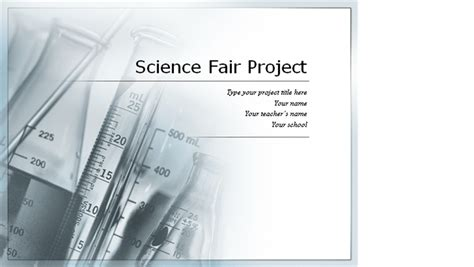 Science Fair Project Presentation Science Fair Project Templates