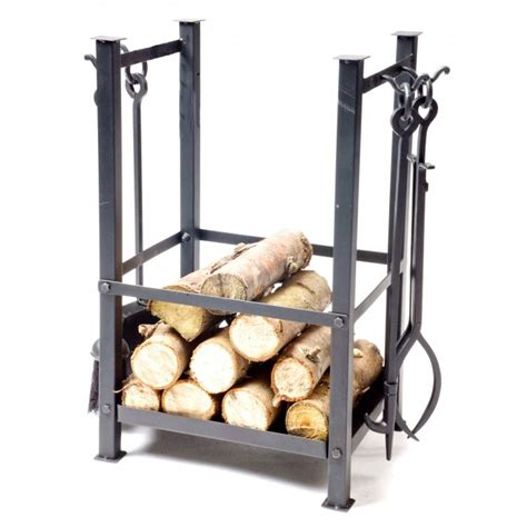 Log Trolleys And Log Stores Black Country Metal Works Small Fireplace Tools