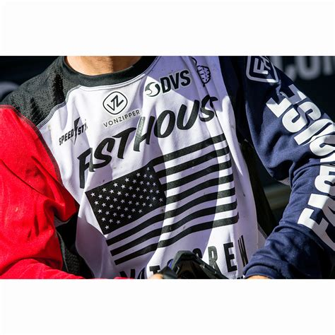 motocross gear usa fasthouse usa air white blue red jersey at mxstore