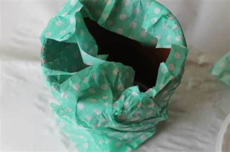 Decoupage With Tissue Paper - tissue paper decoupage flower pot