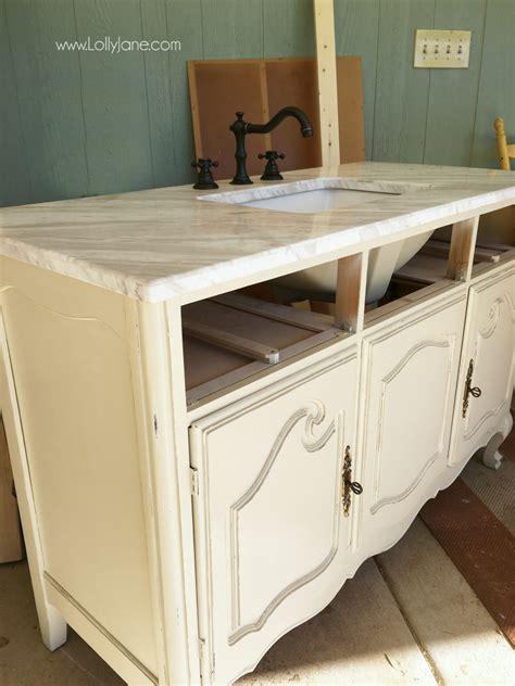 vintage dresser to bathroom vanity lolly