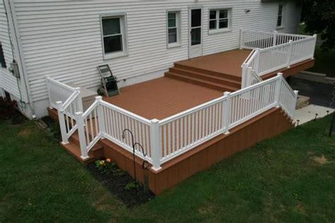 deck designs for split level homes images of small bi level homes split level azek deck
