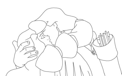 Lineart Derek And Odette 3 By Swanprincessfan On Deviantart The Swan Princess Coloring Pages