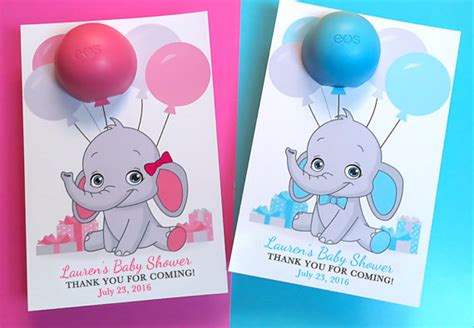 eos template for baby shower favors free eos baby shower elephant favors lip balm elephant baby