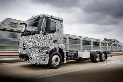 mercedes truck mercedes beats tesla to electric truck
