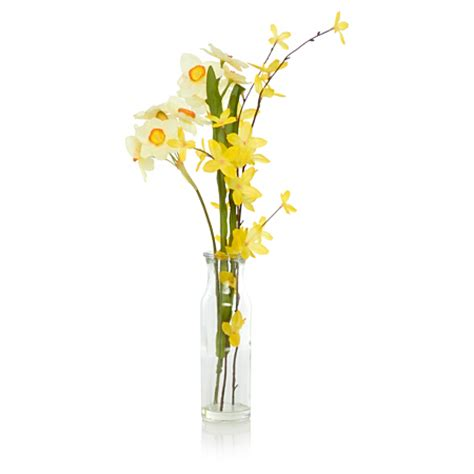 Asda Flower Vases by George Home Artificial Narcissi Glass Vase Home