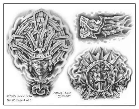 aztec woman tattoo designs steve soto flash j aztec