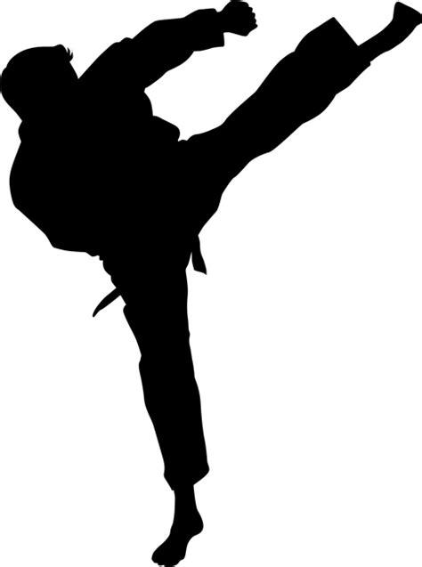 Roundhouse Kick Karate Stencils Stencilease Com