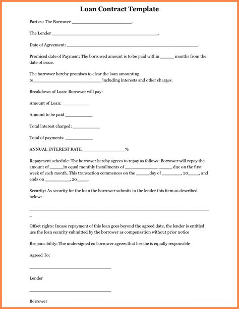 Company Loan Letter Template 5 Intercompany Loan Agreement Template Company Letterhead