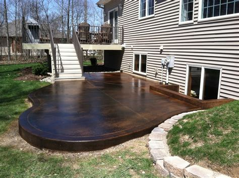 sumptuous stained concrete patio mode indianapolis