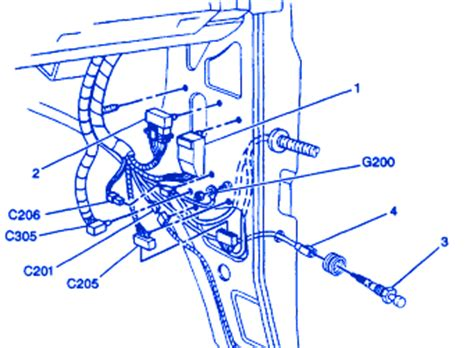 chevrolet astro  door side electrical circuit wiring