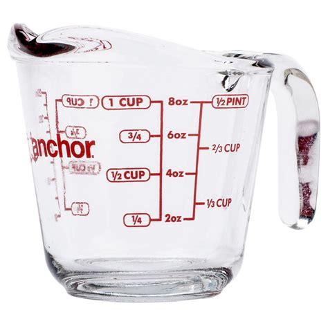 500 Ml Measuring Cup anchor hocking glass measuring jugs cups 0 5 1 or 2 pints