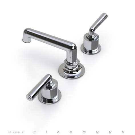 Waterworks Faucets by Waterworks Henry Faucet With Lever Handles 3d Model Max