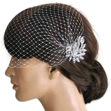 Wedding Hair With Veil And Comb by Birdcage Veil And A Bridal Comb 2 Items Wedding Comb
