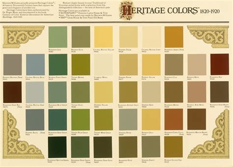 painting color schemes historic paint colors