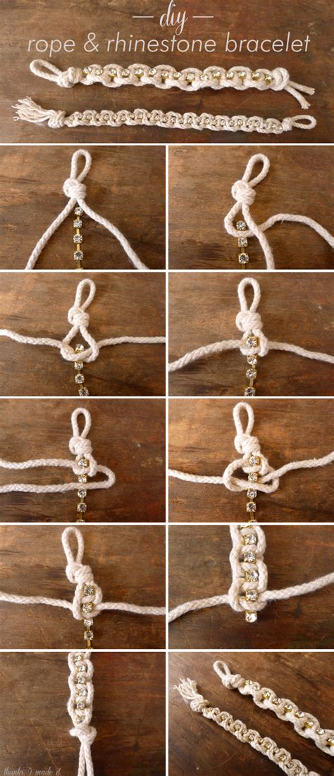Do Be A Square With This Lola Bracelet by Thanks I Made It Diy Rhinestone Rope Bracelet