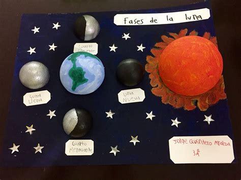 maquetas de lasfaces de la luna maqueta fases de la luna arte para ni 241 os pinterest