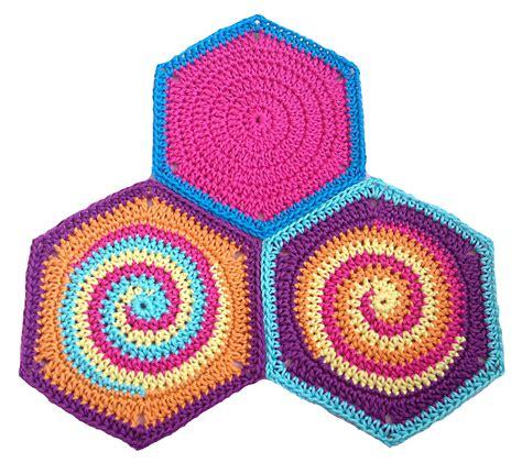 pattern crochet hexagon granny square hexagon twistysix crochet pattern photo