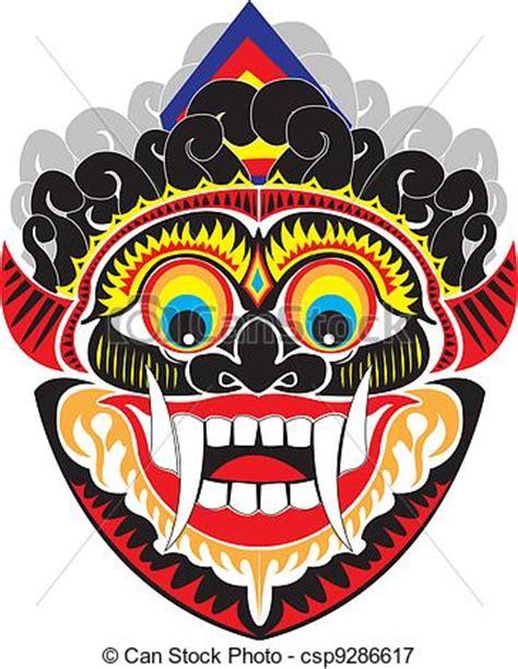 vector illustratie indo masker een indonesisch